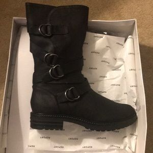 NWT Report Nelsen Strapped Combat Boots Sz 9